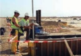 Urbanización de polígono industrial en Alhama de Murcia